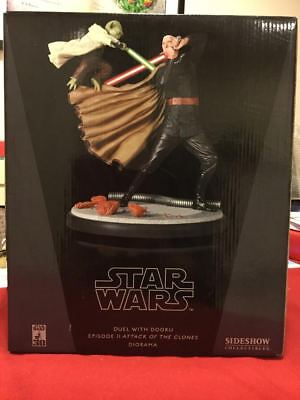 Sideshow Collectibles Dual with Dooku Star Wars Episode II Diorama