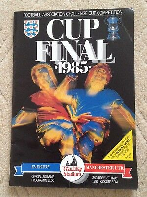 1985 FA Cup final programme Everton v Manchester United (Man Utd)