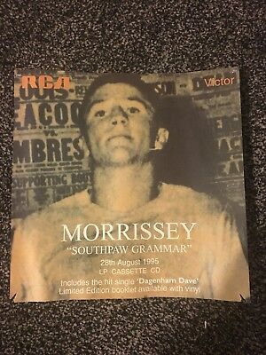 Rare Vintage Morrissey Pair Of Promos 1995 Britpop Madchester The Smiths
