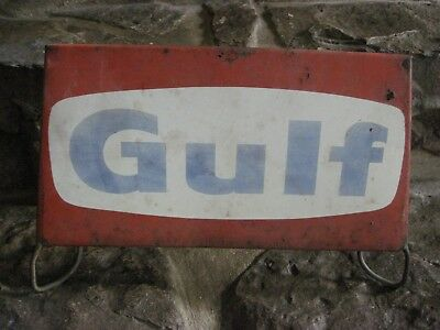 Vintage - Gulf Oil - Metal Sign With Stand