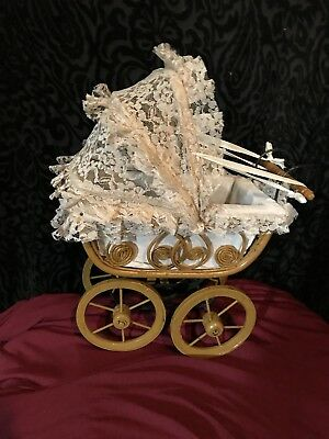 Antique Vintage Style Doll Buggy Carriage