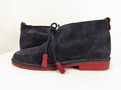 6bc6911b98a Hush Puppies NEW Size 13 Cyra Catelyn Blue Suede Chukka Desert Boots Red  Sole