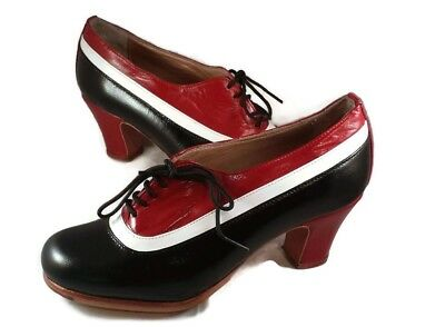 Flamenco professional shoes  brand new black red white choose your size