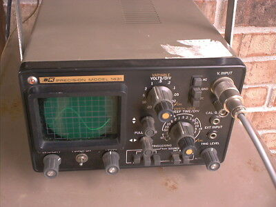 A Nice Used B&K Precision Model Oscilloscope Model # 1431 With ONE Cable