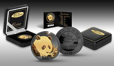 PANDA GOLDEN ENIGMA 2018 30 Grams Chinese Silver Coin – Black Ruthenium 24 Gold