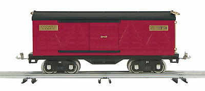 MTH Lionel Tinplate 514 Red And Black Standard Gauge Box Car 11-30042