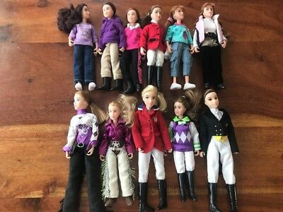 Huge Lot Of 11 Breyer Horse People Riders Nice Condition (WR)