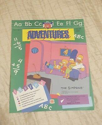 1990 Burger King Kids Club Adventures The Simpsons Flyer Vol. 1 No. 4