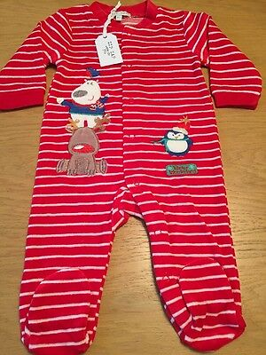 BNWT Supercute Christmas Babygrow By ZIP ZAP (Up To 1 Mths) *FREE UK P&P*