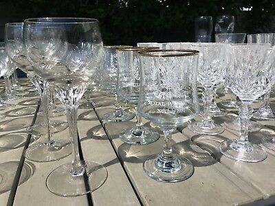 massive vintage drinking glasses job lot -165