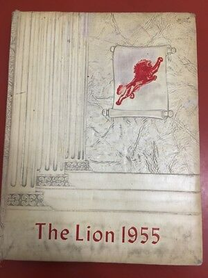 "1955 Booker T Washington High School Yearbook, New Orleans, Louisiana ""lion"""