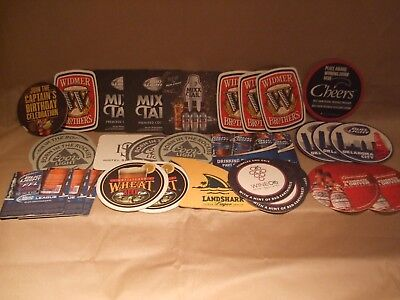 Lot of 30 Assorted Beer Bar Coasters