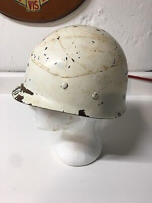 US WW2 M1 HELMET LINER INFANTRY White MP Medic Parade