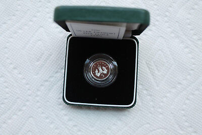 UK (Great Britain) 5 Pence Piedfort Silver Sterling Proof Coin from 1990