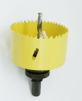 M42 Bi-Metal Hole Saw 3 Inch With Arbor and Pilot Center Drill Bit Hole Cut