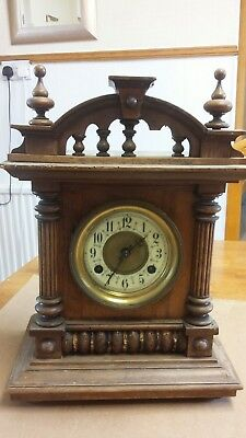 Antique wooden Mantel Clock for Spares or Repair
