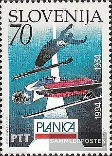 slovenia 78 (complete issue) unmounted mint / never hinged 1994 60 years ski-WM