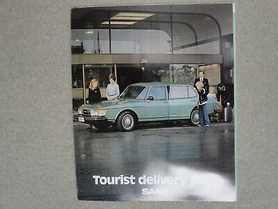 Saab Tourist Delivery Plan Advertising Brochure