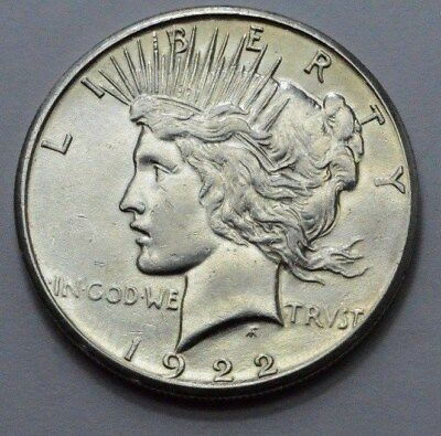 1922-S  Peace Dollar Superb  Silver US Coin , $1.00 , NO RESERVE !