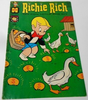 Rare Sept 1962 Vintage Harvey Richie Rich #12 Comic Book...nice