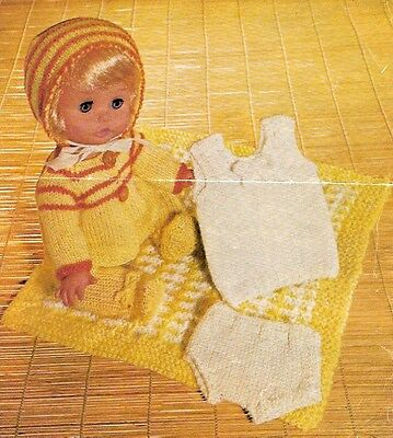 Baby Dolls Clothes Knitting Pattern Copy  30 cm dolls 4 ply