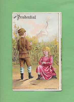 CHILDREN FLY KITE On PRUDENTIAL INSURANCE Victorian Trade Card