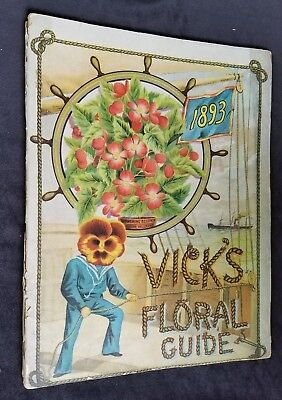 1893 Seed Cataog VICK'S Floral Guide James Vick's Sons Rochester NY