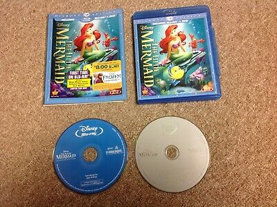 The Little Mermaid Diamond Edition Blu-Ray/DVD With Slip Cover
