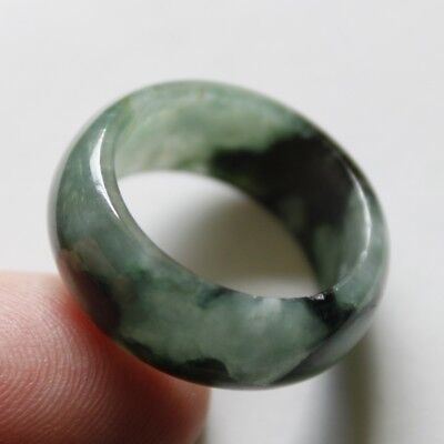 Size 8 1/4 ** CERTIFIED Natural (Grade A) Untreated Green Jadeite JADE Ring