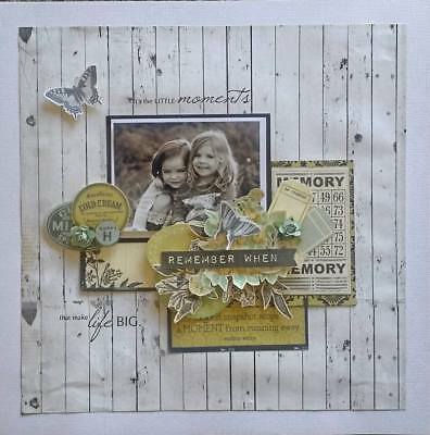 Handmade Premade Scrapbook Page Layout 12 X 12 - Remember When
