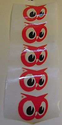 5  Vintage Red Owl Stores Logo Stickers Grocery Store