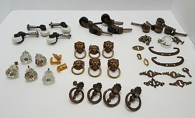 Antique Furniture Hardware Drawer Pulls Large Miscellaneous Lot