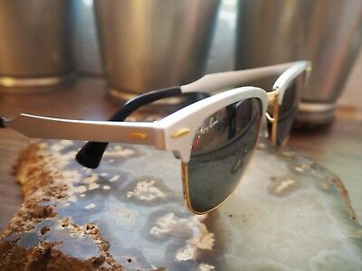 2b9deea836 RayBan Clubmasters (RB3507) Aluminum Lenses Brushed Silver Green Lens  Sunglasses