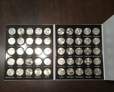 50 US State Quarters Complete Set Bandwagon Album 1999-2008 - Instant Collection
