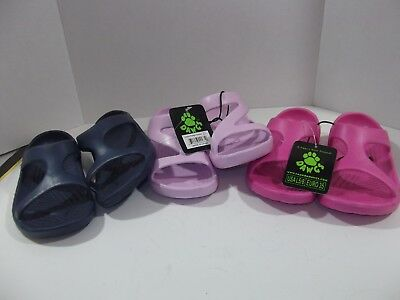 (3) Pair of Dawgs Womens Z & X Sandals, Size US 5-6 Pink, Hot Pink + N. Blue NWT