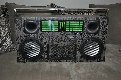 Portable Monster Energy BumpBox Boombox Bluetooth Usb Sd Microphone Wireless