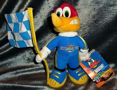 "Woody Woodpecker 8"" Nascar Plush Stuffins Limited Edition 1999"