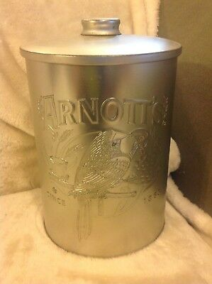 Arnotts Biscuit Silver Tin Glengarry Petticoat Shortbread Container