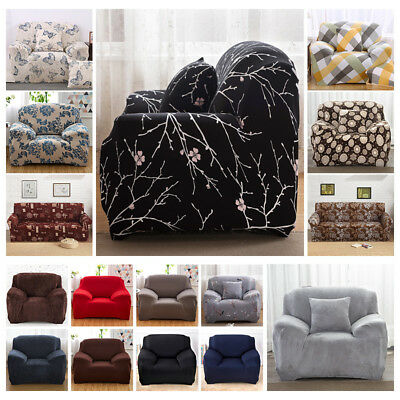 1 2 3 4 Seater Floral Elastic Soft Sofa Couch Covers Stretch Slipcover Protector
