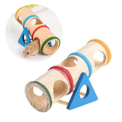 Colorful Wooden Mouse Mice Seesaw Cage House Hide Play Pet Toys For Hamster Rat