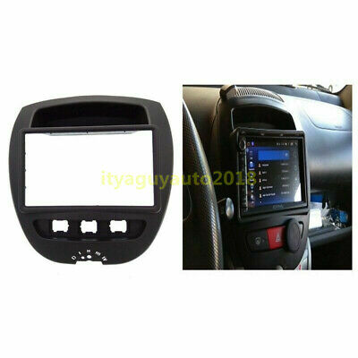 Double Din Car Stereo Radio Fascia Panel for Toyota Aygo Peugeot 107 Citroen C1