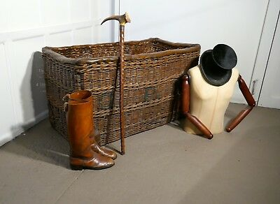 Edwardian G.P.O. Wicker Post or Mail Basket.