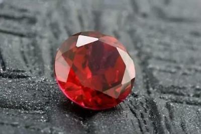 Diamond Brilliant Round Cut Loose 7mm Jewelry Gemstone Exquisite Mosaic Red