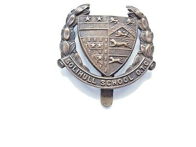 WW1 solihull school officer training corps cap badge  in VGC