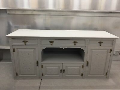 WOW! Antique victorian sideboard Painted two tone colours Grey/Off White