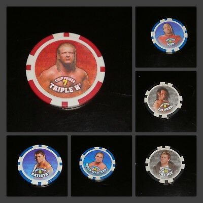 WWE Poker Chipz * 2008 Topps Wrestling Chip * REGULAR CHIPS * Brick Background