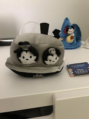 2015 D23 Expo Steamboat Willie Tsum Tsum Japan exclusive plush set