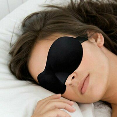 3D Soft Padded Travel Shade Cover Rest Relax Sleeping Blindfold Eye Mask