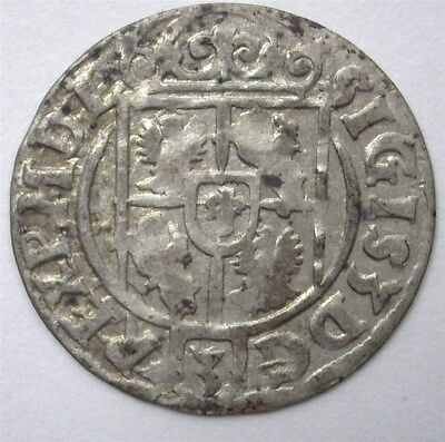 Sigismund Iii Of Poland 1623 Silver 3 Polker  Nearly Uncirculated