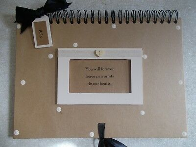 Personalised Handmade A4 Rustic Baby Shower Scrapbook Photo Album QUICK POST